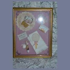 Framed Diorama Little Flirt Artist one of A Kind Presentation Miniature Doll