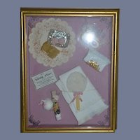 Framed Diorama Little Flirt Artist one of A Kind Presentation Miniature Doll