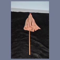 Sweet Doll Parasol Umbrella Red and White Wood Handle