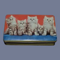 Vintage English Toffee Cat Tin Box