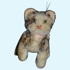 Old Steiff Mohair Cat Kitten Jointed Sweet