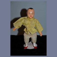 Old Composition Doll Oriental Doll
