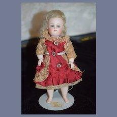 Antique Doll Barefoot Wrestler All Bisque Kestner Gorgeous Petite Size