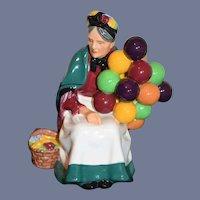 The Old Balloon Seller H.N. 1315 Figurine Balloon Lady Royal Doulton