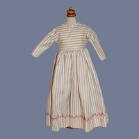 Wonderful Hand Made Stripe Dress W/ Fancy Embroidery