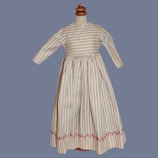 Wonderful Hand Made Stripe Dress W/ Fancy Embroidery