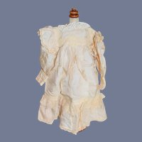 Sweet Doll Dress W/ Initial Lace and Silk French Market