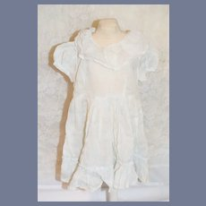 Wonderful Old Cotton Doll Dress Drop Waist White Wear