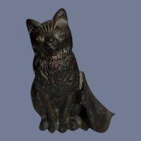 Vintage 1920's Chicago Temple Masonic Miniature Shield Bronze Cat