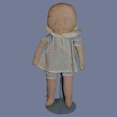 Vintage Baby Rag Cloth Doll Side Glancing Eyes