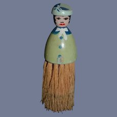 Darling 5 3/4 inch Wood Hand Painted Brush Doll