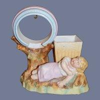 Antique Piano Baby Bisque Watch Holder