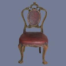 Vintage Fancy Dollhouse Doll Chair Miniature
