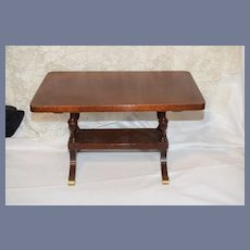 Old Petite Doll Furniture Table Fashion Doll Genuine Mahogany Dinning Table