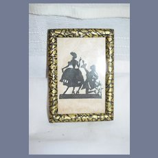 Old Miniature Silhouette Framed Wonderful Victorian Couple Doll Dollhouse