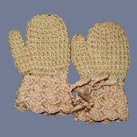 Vintage Sweet Doll Crochet Gloves