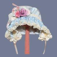 Sweet Petite Doll Bonnet Hat Fancy French Market By Paule Fox Antique Designs