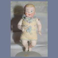 Antique All Bisque Doll Baby Jointed Miniature