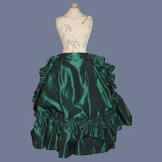 Vintage Taffeta Skirt Ruffles W/Short Fancy Train