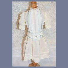 Vintage Sweet Doll Drop waist White Wear lace Trim Great for Frenchie Doll