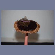 Old Doll Bonnet Hat Hand Made Betty Johnson Doll Clothier Fashion Doll