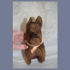Old Cloth Dog W/ Button Eyes Stuffed Animal Doll Companion