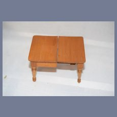 Vintage Dollhouse Wooden Extension Kitchen Table 4 & 1/4 inches