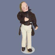 Old Doll Vintage Cloth Doll Stockinette Benjamin Franklin Historical Figure