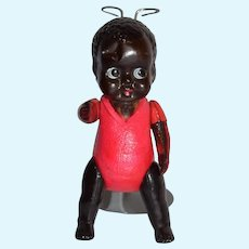 Vintage Japan Celluloid Black Baby Doll 5.5 inches