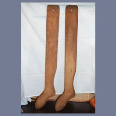 Antique Wooden Stocking Sock Form Jost Pearson