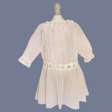 Old Doll Dress Drop Waist Sheer Pleated