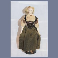 Antique Doll French Papier Mache Paper Pauline Glass Eyes Milliner Style Body