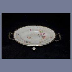 Vintage Child's Children's Hot Water Warming Dish Bowl Flower Print
