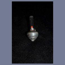 Vintage Miniature Metal Lamp themed Dreidel 2 inches