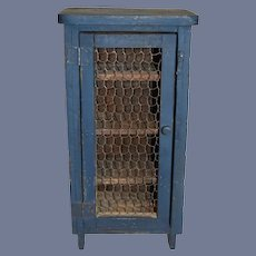Wonderful Old Doll Chest Cabinet Pie Safe Miniature Petite