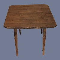 Antique Wood Doll Table Extends Petite Doll