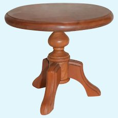 Vintage Miniature Petite Size Wood Round Table Doll Pedestal
