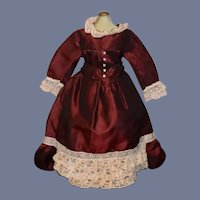 Beautiful Doll Dress w/ Lace Trim French Market