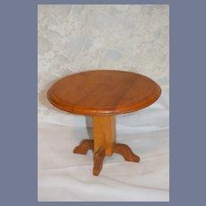Vintage Doll Wood Round Pedestal Table Fashion Doll Size