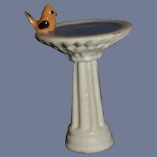 "Ceramic Miniature Bird Bath Dollhouse- 2"""
