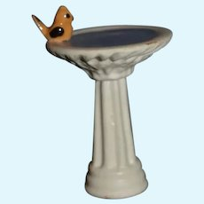 Ceramic Miniature Bird Bath Dollhouse- 2""