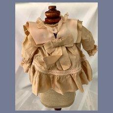 Vintage Doll Dress Satin Petite French Market Fancy