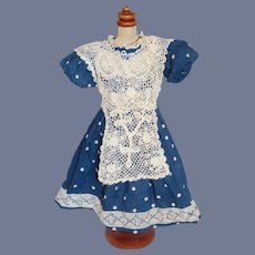 Vintage Doll Polka Dot and Lace Sweet Dress