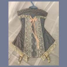 Vintage Lingerie Doll Holder Lace