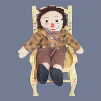Vintage Doll Cloth Doll Raggedy Ann Rag Doll