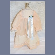 Light Pink And White Lace Doll Dress