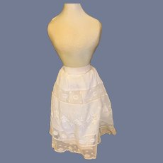Old Doll Undergarment Lace Skirt Double Fancy French Market