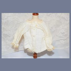 Old Doll Top Blouse Lace Trim Fashion Doll Size