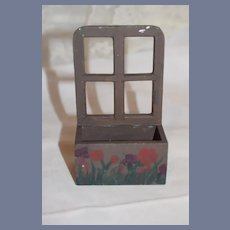 Sweet Doll Miniature Painted Window Flower Box Wood Tasha Tudor