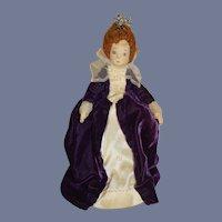 Wonderful Queen Elizabeth  Cloth Artist Doll Vintage